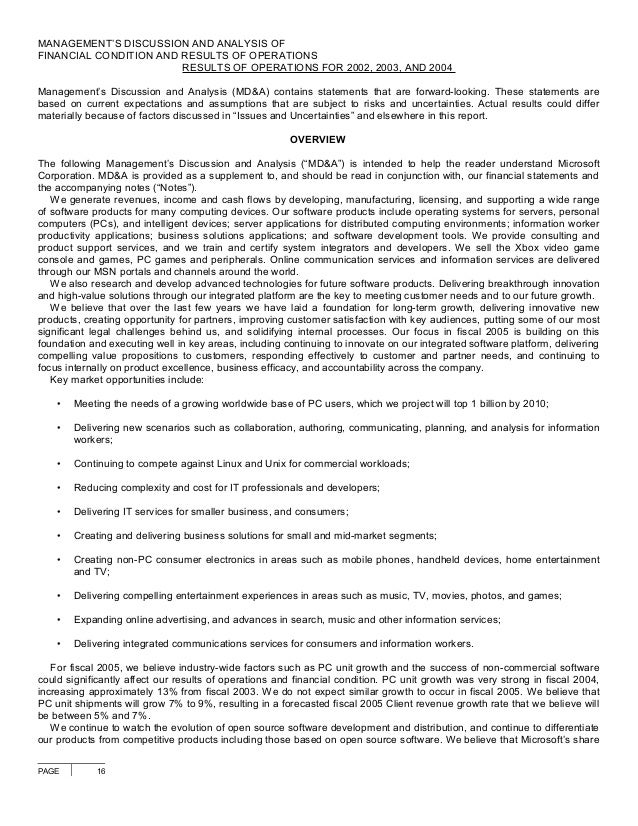 microsoft 2004 annual report