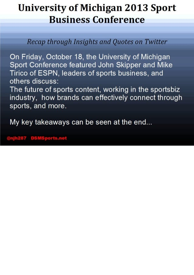 University of Michigan Sport Business Conference Recap