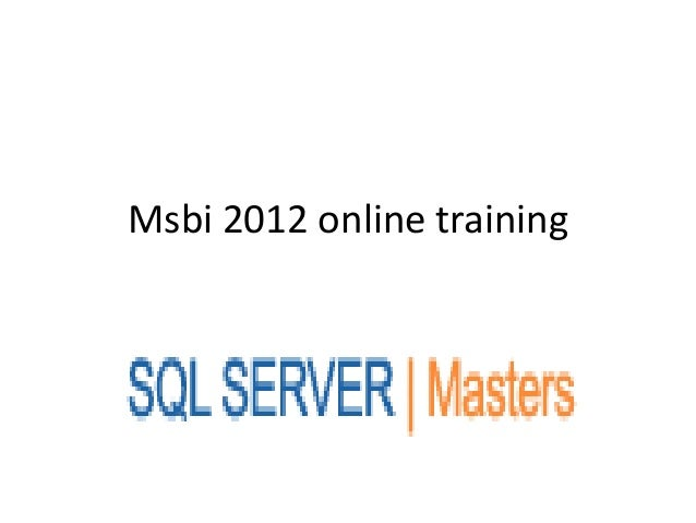 Msbi 2012 online training