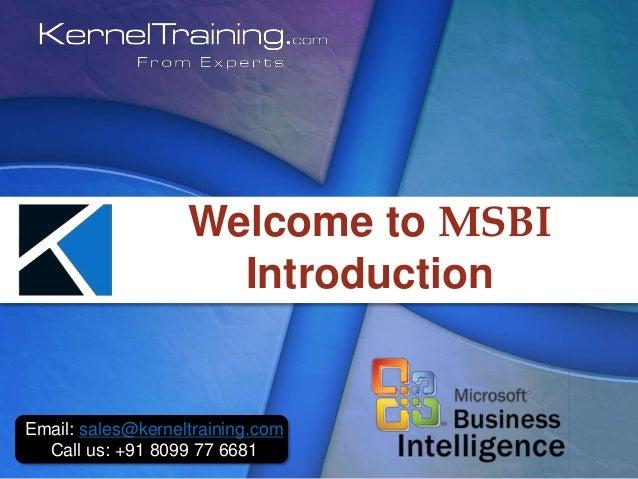 MSBI| MSBI- Tutorial for Beginners|