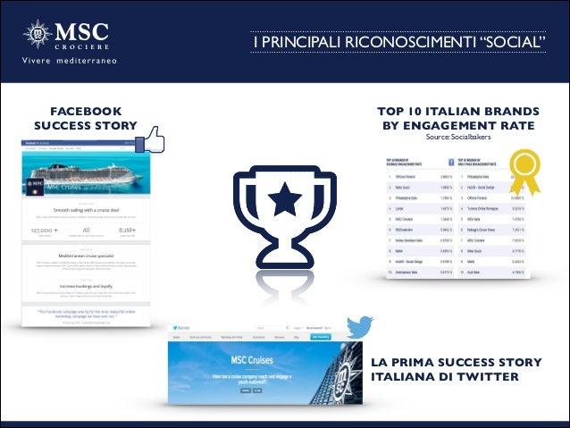 "I PRINCIPALI RICONOSCIMENTI ""SOCIAL"" FACEBOOK  SUCCESS STORY  TOP 10 ITALIAN BRANDS  BY ENGAGEMENT RATE  Source: Socia..."