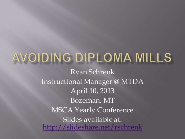 Ryan SchrenkInstructional Manager @ MTDA          April 10, 2013          Bozeman, MT   MSCA Yearly Conference       Slide...