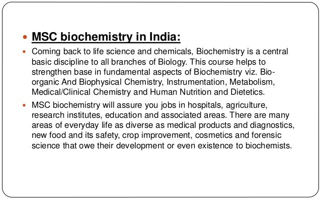 biochemistry in everyday life Biochemistry: the chemistry of life   biochemistry majors may consider careers requiring further education beyond an  many areas of everyday life.