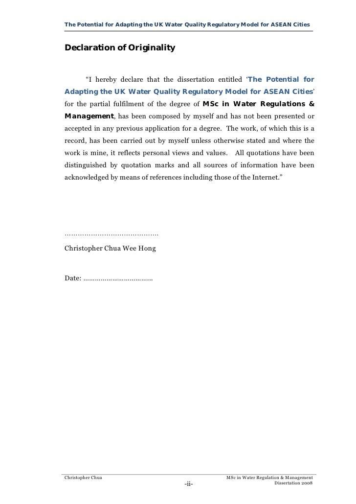 Dissertation oncology regulatory affairs