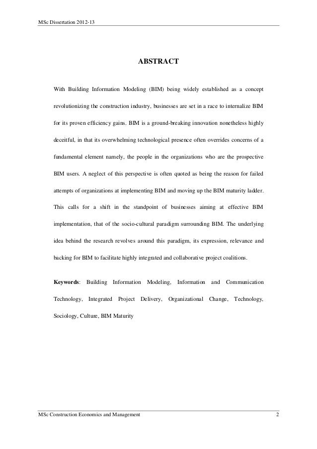 Dissertation Abstract International