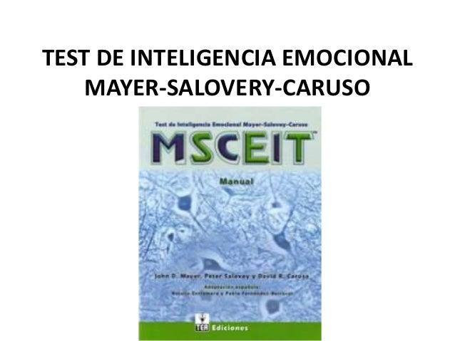 msceit test de inteligencia emocional mayer salovey caruso pdf