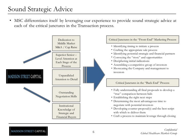 Sound Strategic Advice <ul><ul><li>MSC differentiates itself by leveraging our experience to provide sound strategic advic...