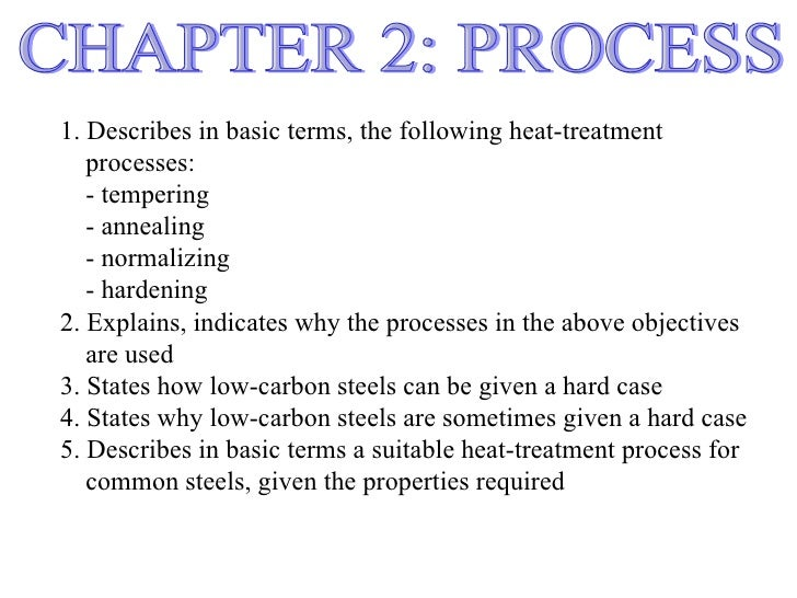 1. Describes in basic terms, the following heat-treatment   processes:   - tempering   - annealing   - normalizing   - har...