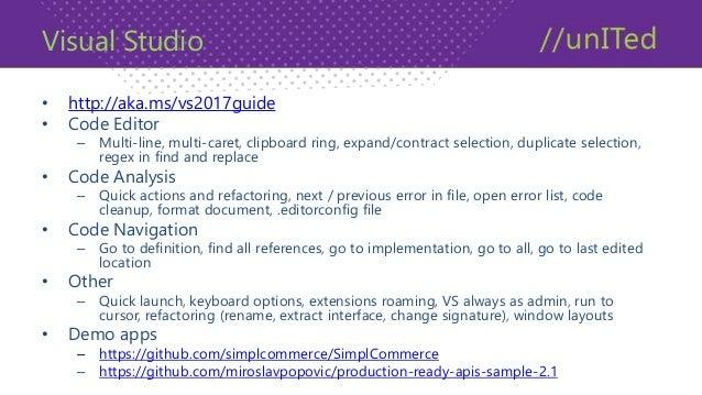 Visual Studio Extensions • Visual Studio LiveShare • Mads Kristensen • Web Essentials 2017 – Add new file, open command li...