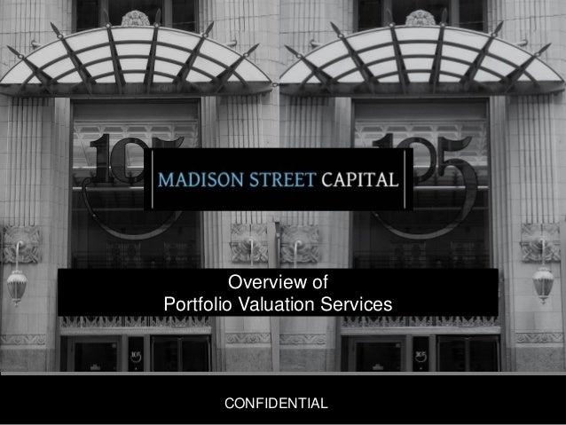 Overview of Portfolio Valuation Services  CONFIDENTIAL