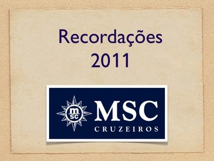 Recordações   2011