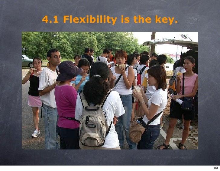 4.1 Flexibility is the key.                                   83