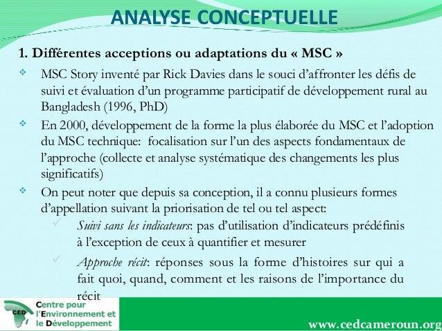 1. Différentes acceptions ou adaptations du «MSC»       MSC Story inventé par Rick Davies dans le souci d'affronter l...