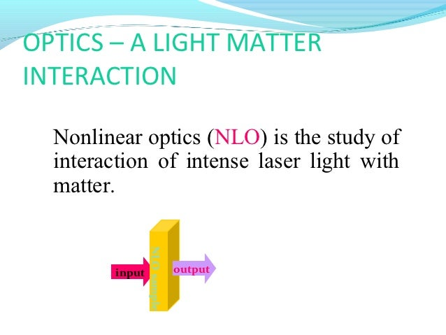 non linear optics