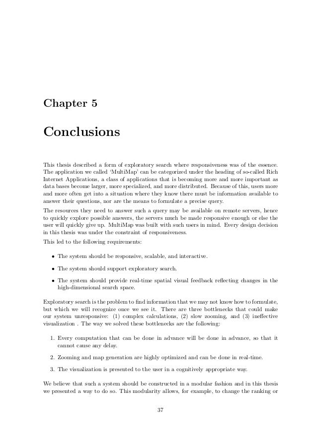 Master thesis conclusion chapter