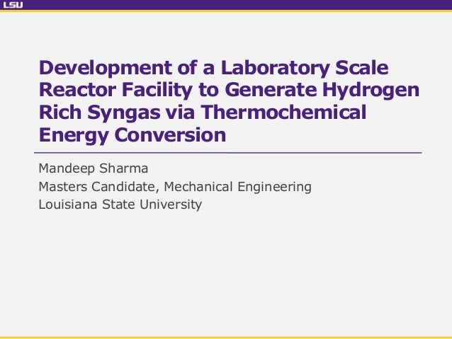 Lsu thesis