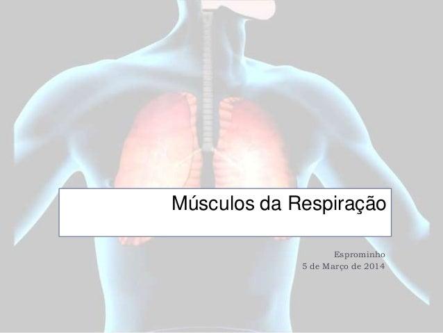 Músculos da Respiração Esprominho 5 de Março de 2014