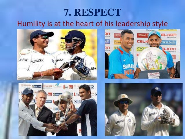 """""""I suppose leadership at one time meant muscles; but today it means getting along with people."""" - Mahatma Gandhi Dhoni the..."""