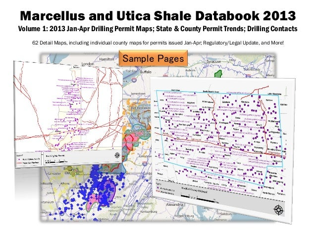 Marcellus and Utica Shale Databook 2013Volume 1: 2013 Jan-Apr Drilling Permit Maps; State & County Permit Trends; Drilling...