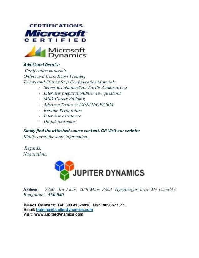 Microsoft Dynamics Nav Training In India