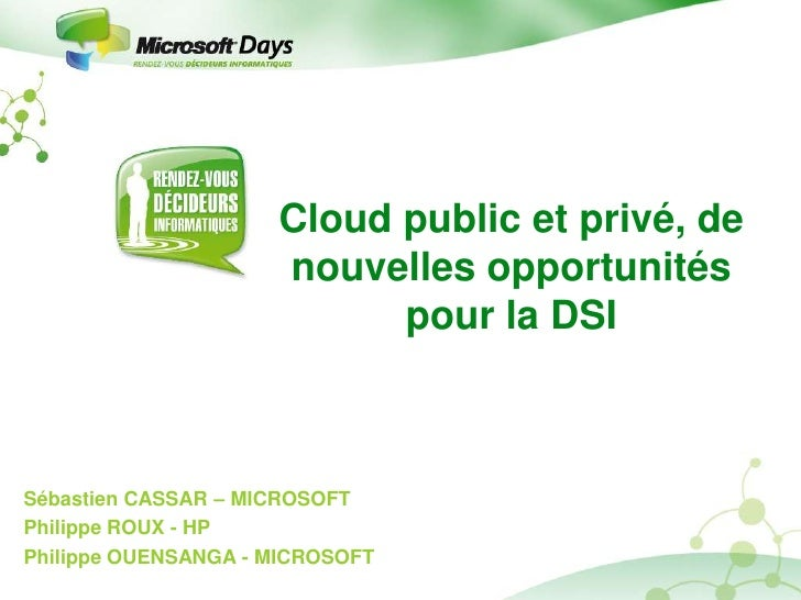 Ms days rdi - session cloud