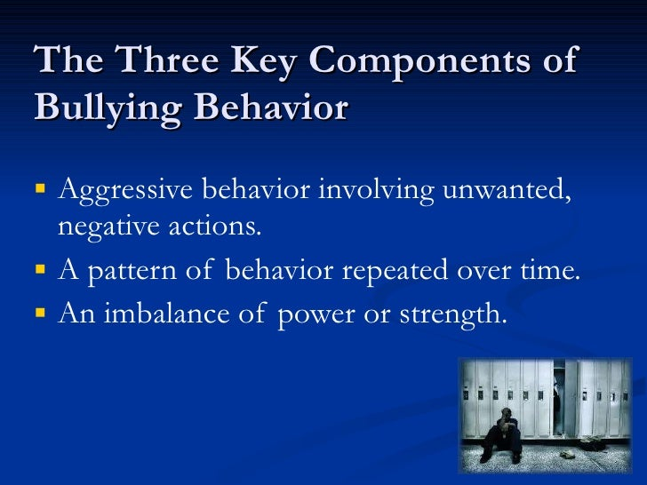 """bullying unwanted aggressive behavior involving a Bullying prevention  and to have measures in place to deal with bullying behavior when it occurs (""""intervention"""")  unwanted or aggressive behavior ."""