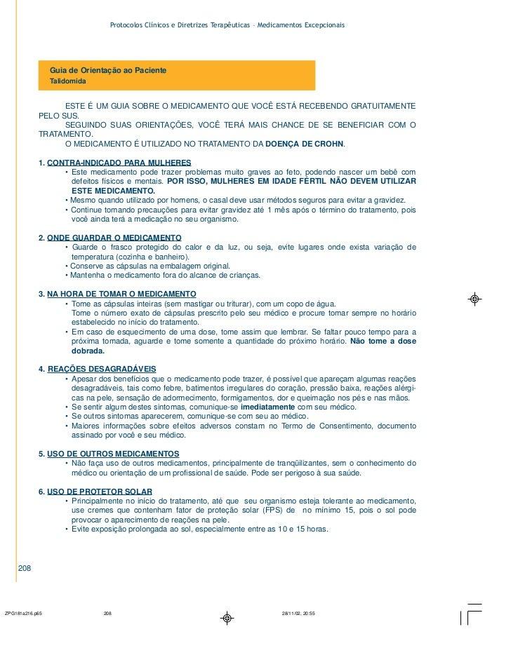 Protocolos Clínicos e Diretrizes Terapêuticas – Medicamentos Excepcionais         Guia de Orientação ao Paciente         T...