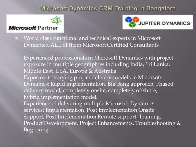 microsoft dynamics crm training