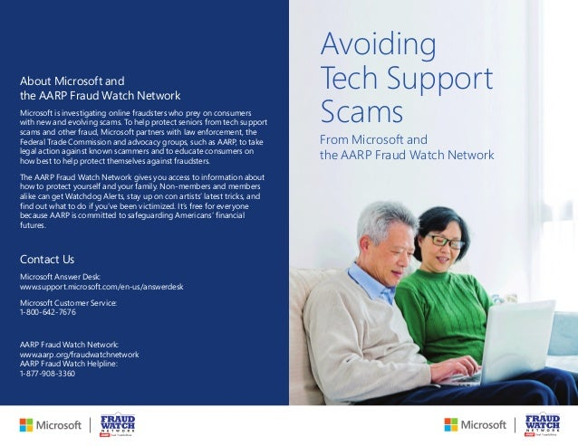 Avoiding Tech Support Scams From Microsoft And The AARP Fraud Watch Network  About Microsoft And The ...