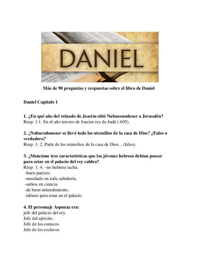Mas De 90 Preguntas Y Respuestas Sobre El Libro De Daniel