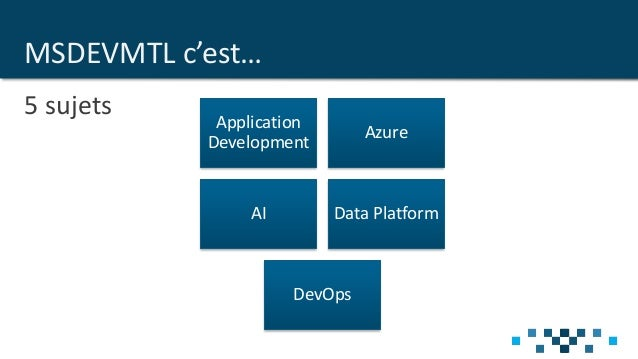 MSDEVMTL Informations 2019 Slide 2