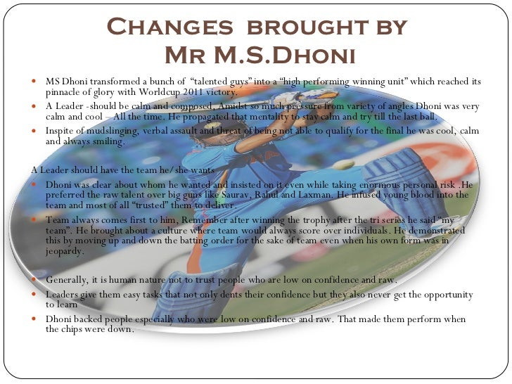 Ms dhoni Slide 2