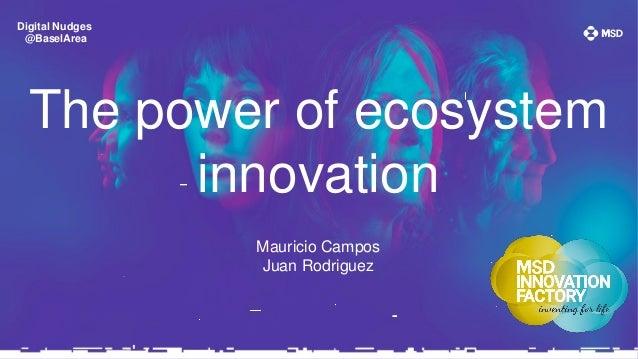 Digital Nudges @BaselArea The power of ecosystem innovation Mauricio Campos Juan Rodriguez