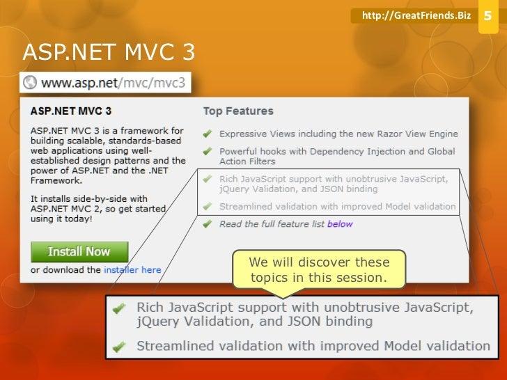 ASP NET MVC 3 in area of Javascript and Ajax improvement