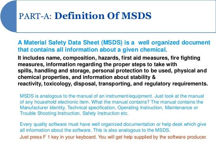 Msds Presentation