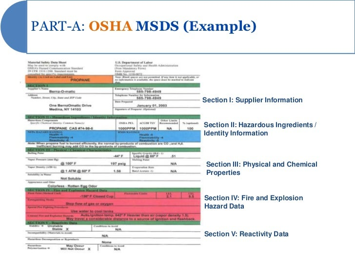 msds presentation rh slideshare net Chemical MSDS Sheets Chemical MSDS Sheets
