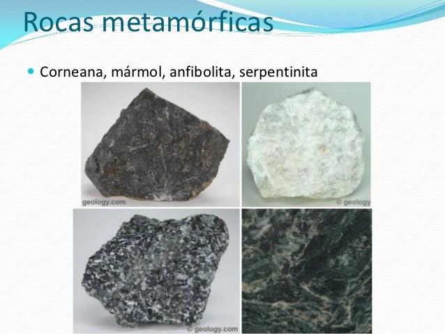 Tipos de rocas for Composicion del marmol