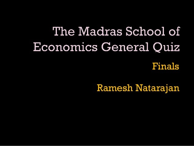 Finals Ramesh Natarajan