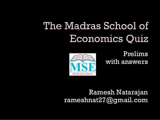 Prelims with answers Ramesh Natarajan rameshnat27@gmail.com