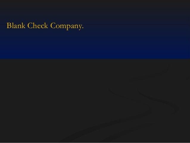 Blank Check Company.