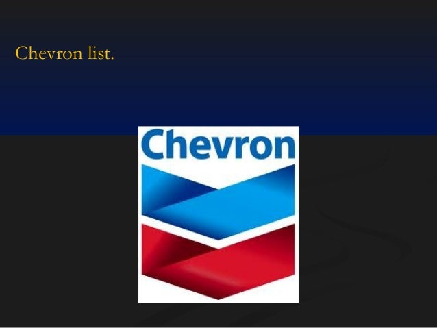 Chevron list.