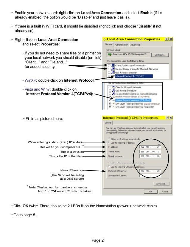 Beginner's SETUP GUIDE for NANOSTATION-M2 as receiver