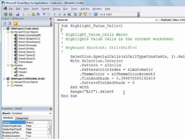 Microsoft Excel - Macros