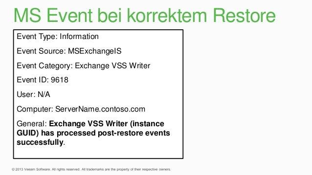 event id 2112 exchange vss writer service