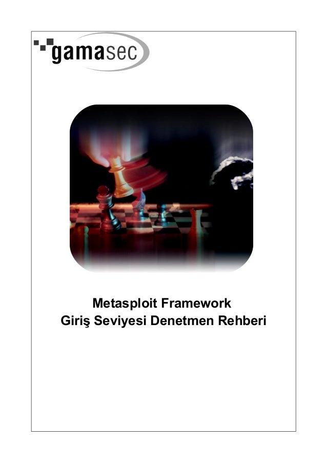 Metasploit FrameworkGiriş Seviyesi Denetmen Rehberi