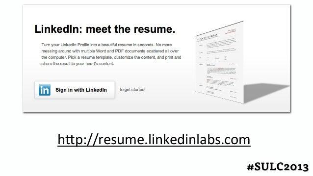Resume Linkedinlabs Com