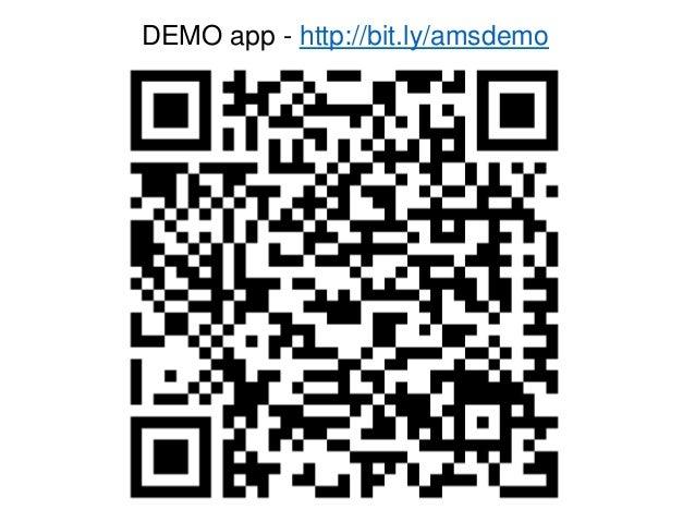 DEMO app - http://bit.ly/amsdemo