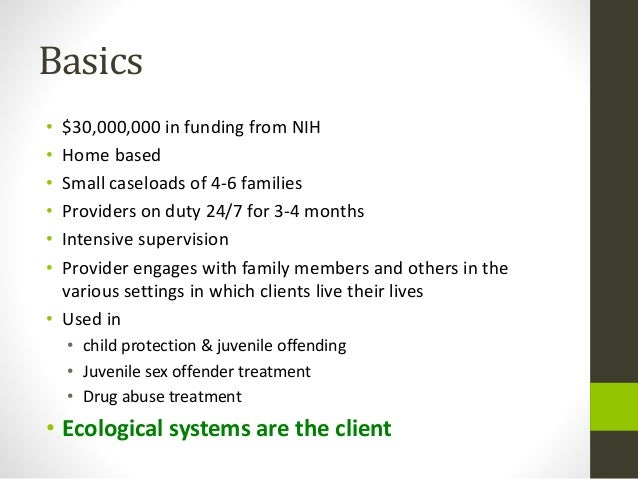 Multisystemic Family Therapy Slide 3