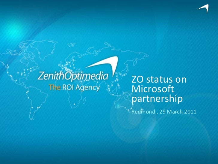ZO status on Microsoft partnership<br />Redmond , 29 March 2011<br />