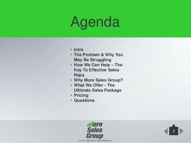 more sales group sales training presentation